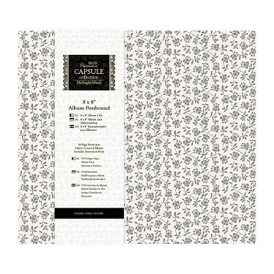 """8 x 8"""" Album Postbound (10 Page Protectors) - Capsule Collection  midnight blush"""