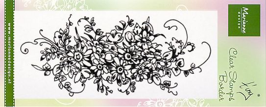 Marianne Design clear stamp Tiny's Border Bouquet TC0872