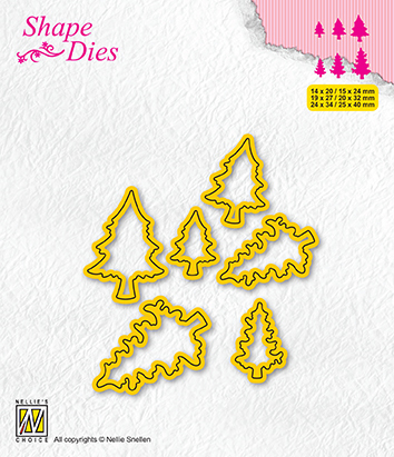 SD211 Shape Dies Collection of mini dies pinetrees-1