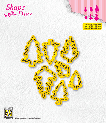 SD210 Shape Dies Collection of mini dies pinetrees-1