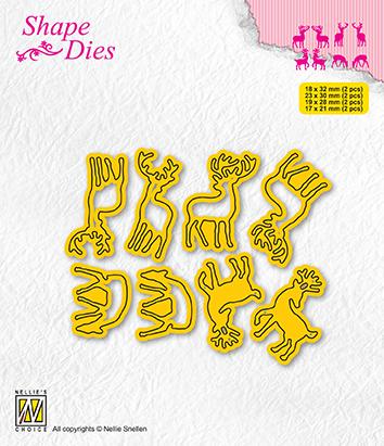 SD208 Shape Dies Collection of mini dies deer-1