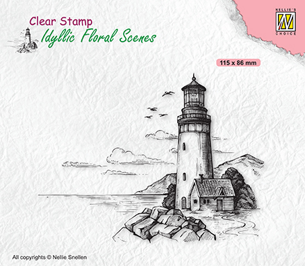 Clear stamps Idyllic Floral Scenes Light house