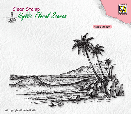 Clear stamps Idyllic Floral Scenes Tropical coast