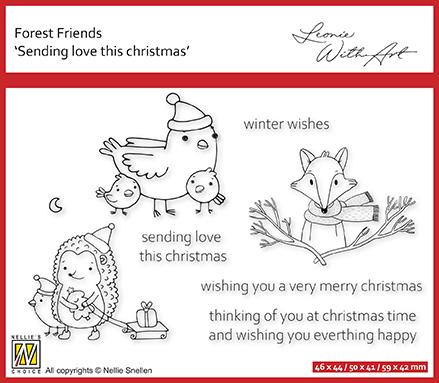 FFECS004 Clear stamp set 4: Sending love this Christmas