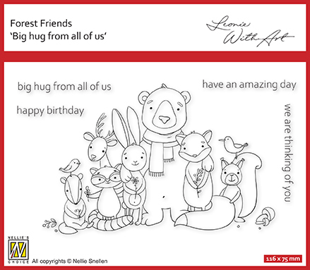 FFECS002 Clear stamp set 2: Big hug from all of us