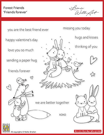 FFECS001 Clear stamp set 1: Friends forever