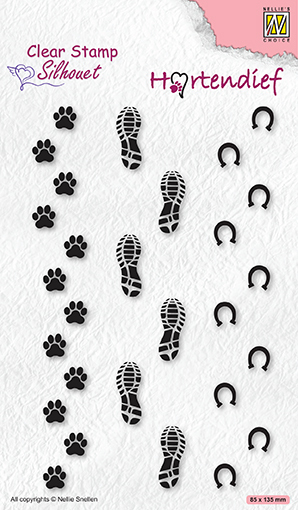 SIL095 Silhouette clear stamps Footprints