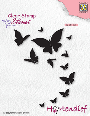 SIL094 Silhouette clear stamps Butterflies
