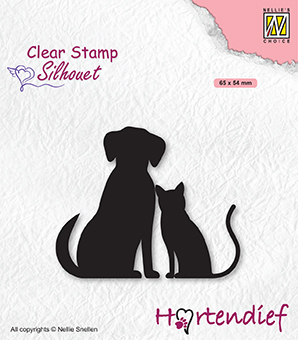 SIL093 Silhouette clear stamps My friends