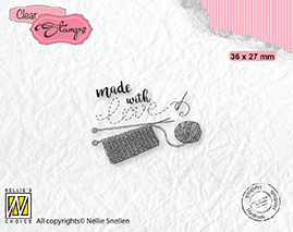 DTCS033 Clear Stamps texts Made with love-2