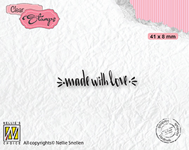 DTCS031 Clear Stamps texts Made with love