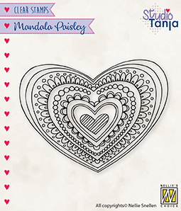 CSMAN012 Clear Stamps Mandala's Paisley heart