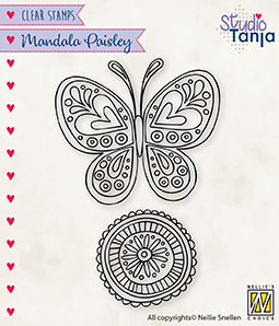 CSMAN011 Clear Stamps Mandala's Paisley butterfly