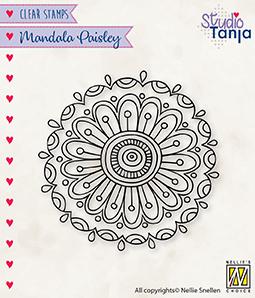 CSMAN010 Clear Stamps Mandala's Paisley flower 2