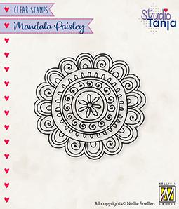 CSMAN009 Clear Stamps Mandala's Paisley flower