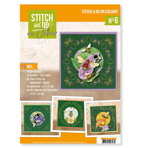 Stitch and Do on Colour 006 - Jeanine's Art - Humming Bees