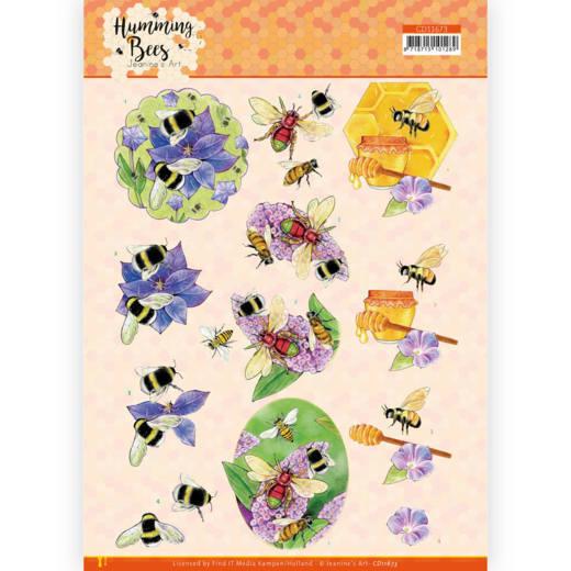 3D Cutting Sheet - Jeanine's Art - Humming Bees - Honey