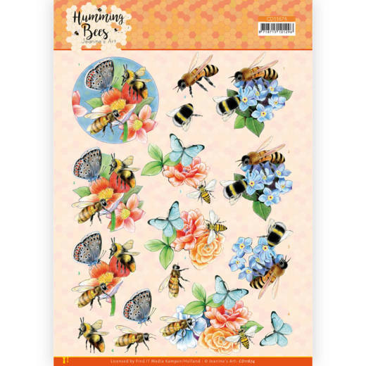 3D Cutting Sheet - Jeanine's Art - Humming Bees -Bees and Bumblebee