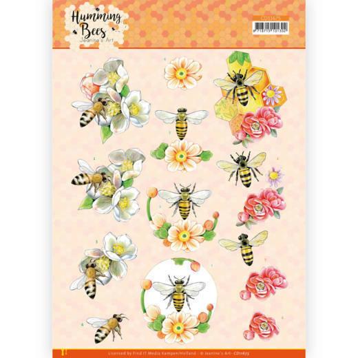 3D Cutting Sheet - Jeanine's Art - Humming Bees - Bee Queen