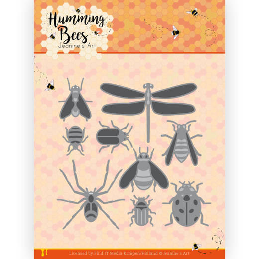 Dies - Jeanine's Art - Humming Bees - All Kinds of Insects