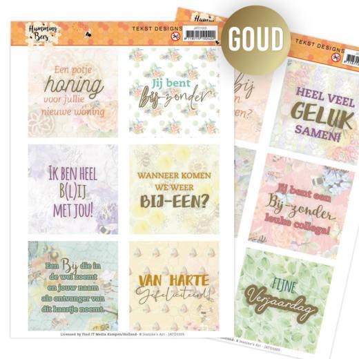 Tekst Designs - Jeanine's Art - Humming Bees (NL)