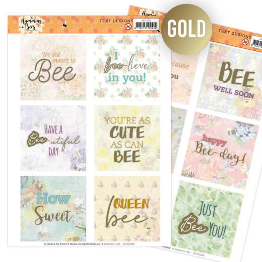 Text Designs -Jeanine's Art - Humming Bees (EN)