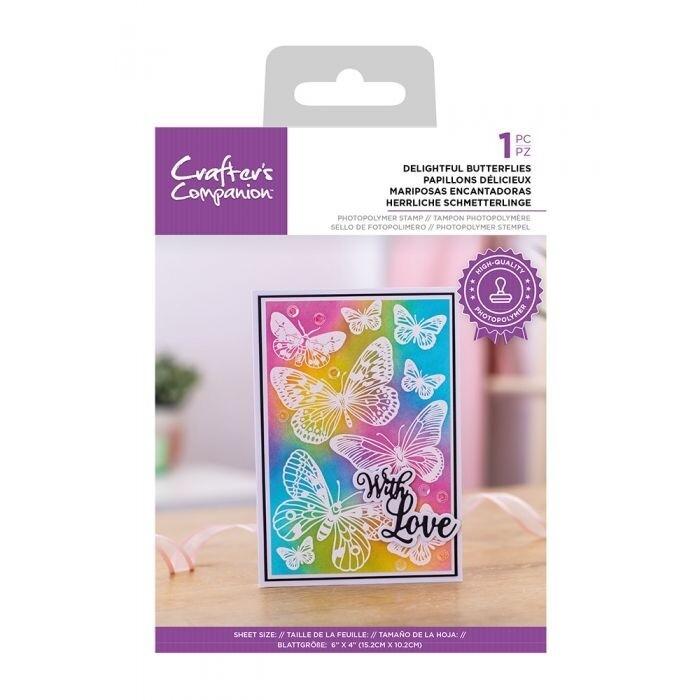 CC - Clearstamp Resist Silhouette - Delightful Butterflies