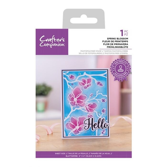 CC - Clearstamp Resist Silhouette - Spring Blossom