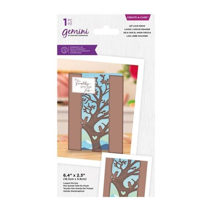 Gemini - Create a Card snijmal - Centerpiece - Let Love Grow