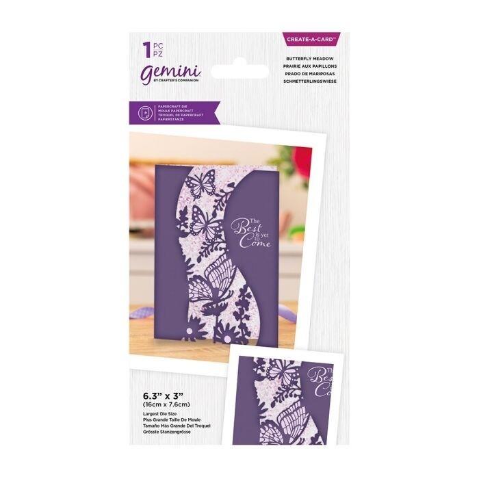 Gemini - Create a Card snijmal - Centerpiece - Butterfly Meadow