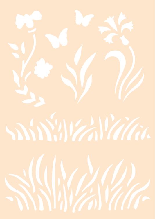 Maskstencil Polybesa - Gras
