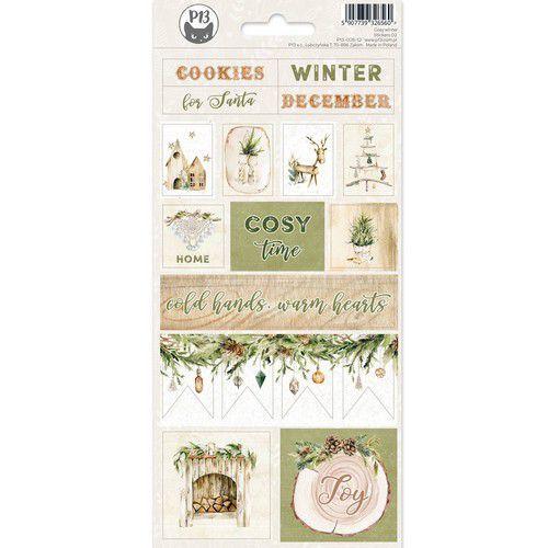 Piatek13 - Sticker sheet Cosy Winter 02 P13-COS-12 10,5x23cm (06-21)
