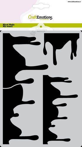 CraftEmotions Mask stencil Summer Fun - druip A5 Carla Creaties (06-21)