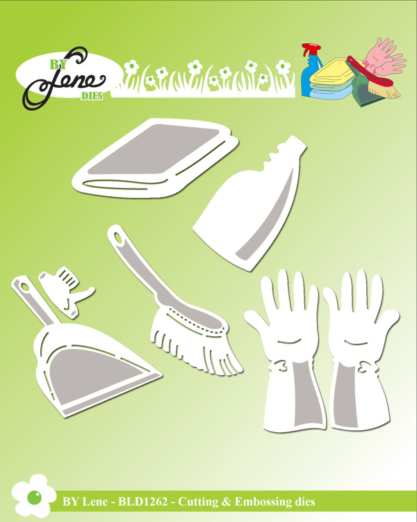 By Lene Cleaning 1 Cutting & Embossing Dies (BLD1262)