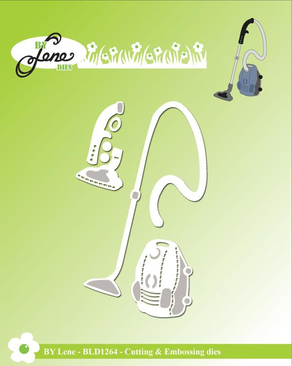 BLD1264 By Lene Die Cut/Emb, Vacuum cleaner