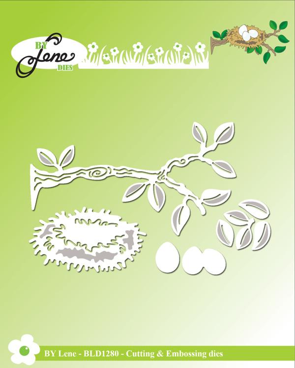 By Lene Branch & Birds Nest Cutting & Embossing Dies (BLD1280)