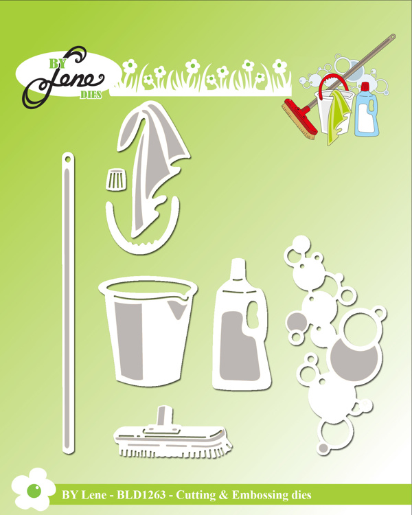 By Lene Cleaning 2 Cutting & Embossing Dies (BLD1263)