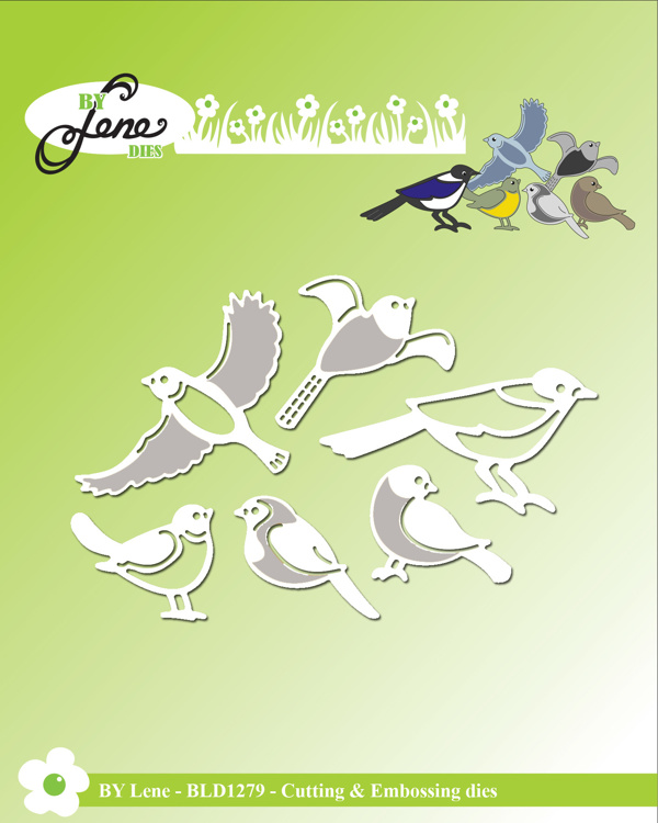 By Lene Birds Cutting & Embossing Dies (BLD1279)