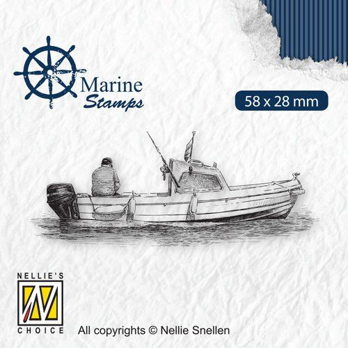 Nellies Choice Clearstamp - Maritime - Boot VCS001 58x28mm (06-21)