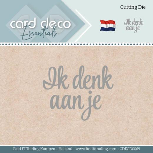 Card Deco Essentials - Dies - Ik denk aan je