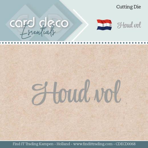 Card Deco Essentials - Dies - Houd vol
