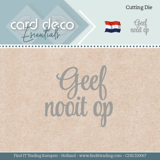 Card Deco Essentials - Dies - Geef nooit op