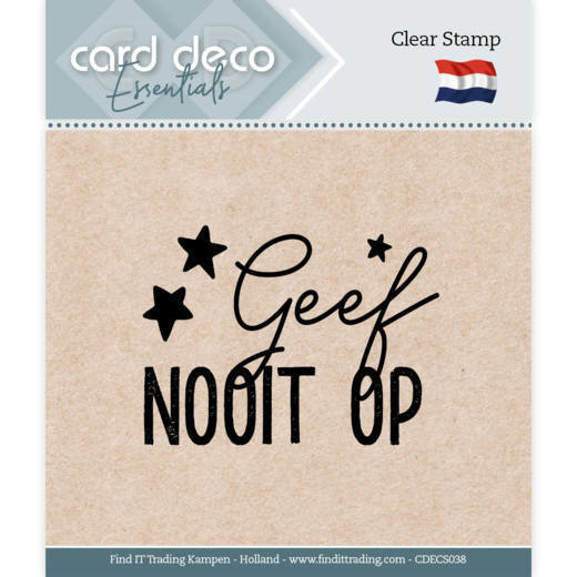 Card Deco Essentials - Clear Stamps - Geef nooit op