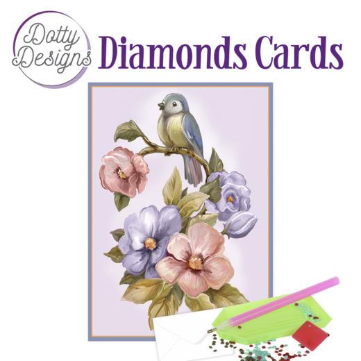 Dotty Designs Diamond Cards - Bird & Flower