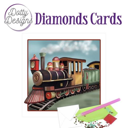 Dotty Designs Diamond Cards - Vintage Locomotive