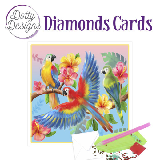Dotty Designs Diamond Cards - Parrots