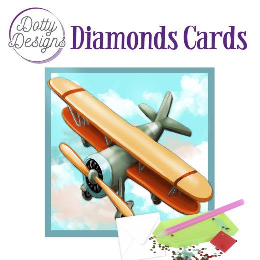 Dotty Designs Diamond Cards - Vintage Biplane