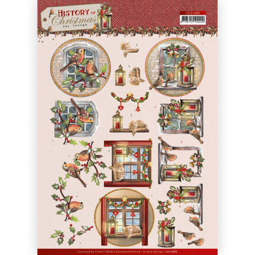 3D Cutting Sheet - Amy Design - History of Christmas - Christmas Window