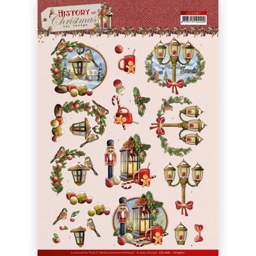 3D Cutting Sheet - Amy Design - History of Christmas - Christmas Lanterns