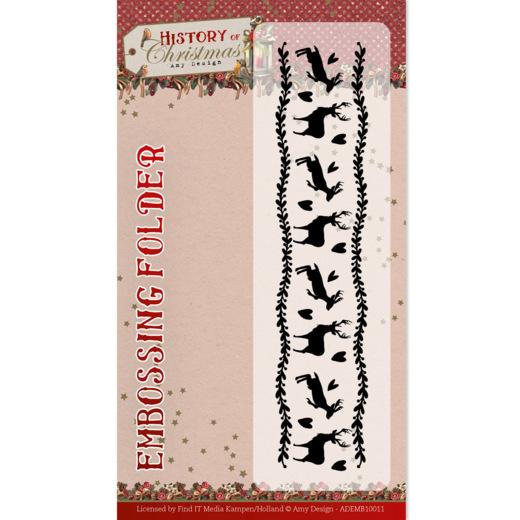 Embossing Folder - Amy Design - History of Christmas